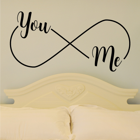 You me infinity wall quotes vinyl lettering wall decal forever love marriage wedding anniversary infinity