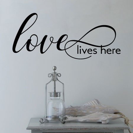 Love Lives Here Wall Quotes Decal Wallquotes Com