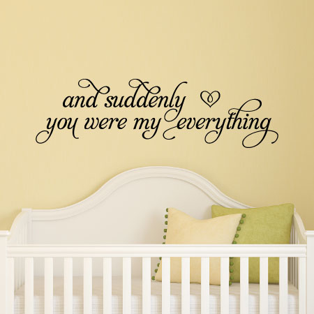 You Were My Everything Wall Quotes Decal Wallquotes Com