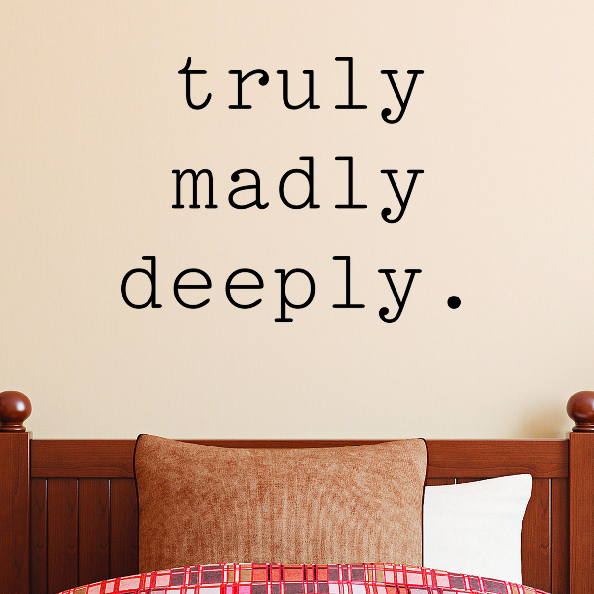 Love Wall Quotes: Truly Madly Deeply Wall Quotes™ Decal