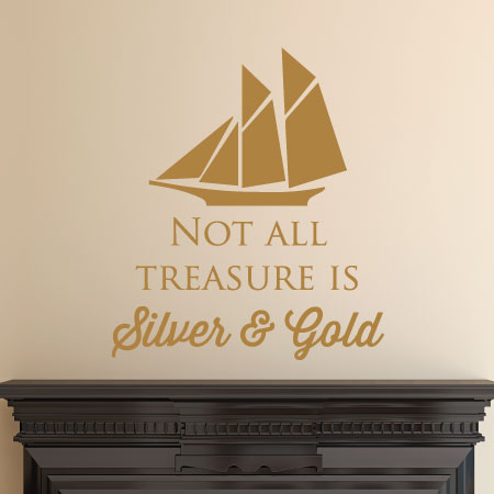 Not All Treasure Wall Quotes™ Decal   WallQuotes com