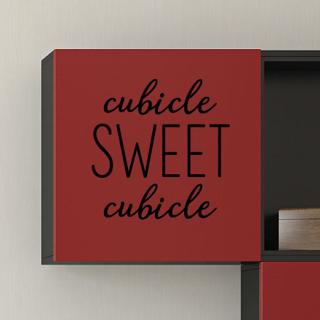 Cubicle Sweet Cubicle Wall Quotes™ Decal | WallQuotes.com