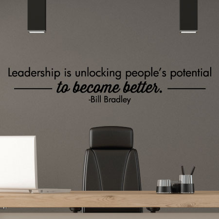 leadership is unlocking potential wall quotes™ decal   wallquotes