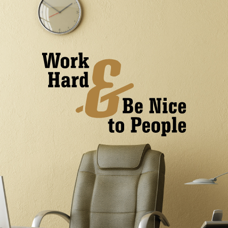 Work Hard & Be Nice Wall Quotes™ Decal | WallQuotes.com