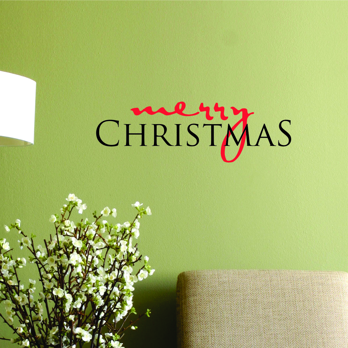 Merry Christmas Script and Serif Wall Quotes™ Decal | WallQuotes.com
