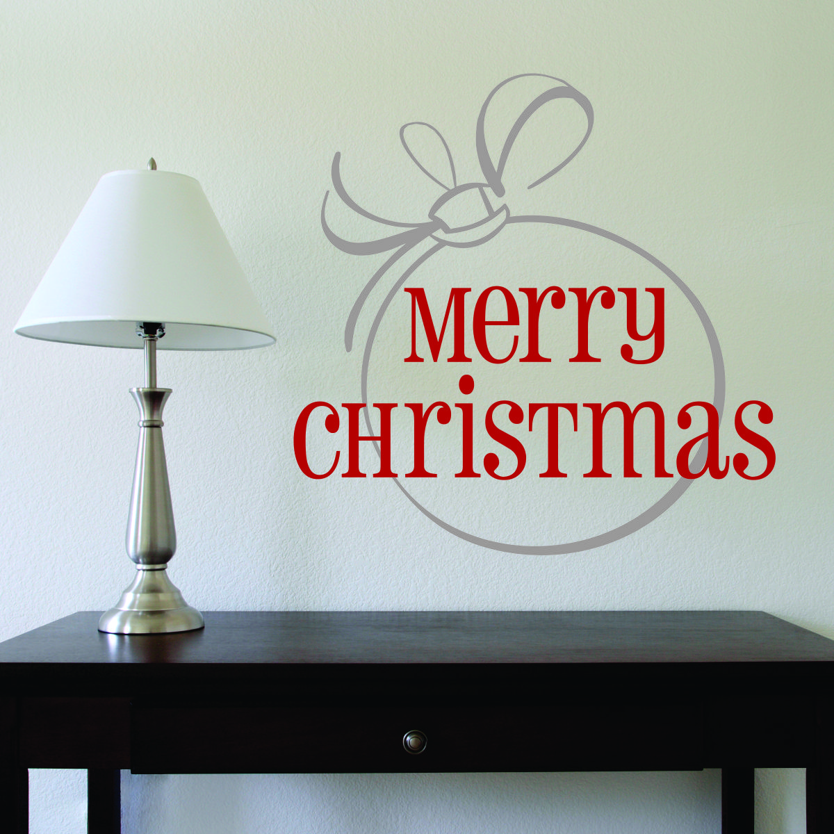 Merry Christmas Large Ornament Wall Quotes Decal