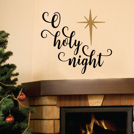O Holy Night Script Wall Quotes Decal Wallquotes Com