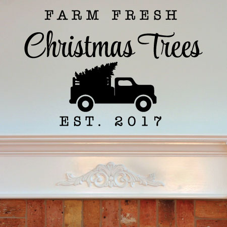 Farm Fresh Trees Wall Quotes Decal Wallquotes Com