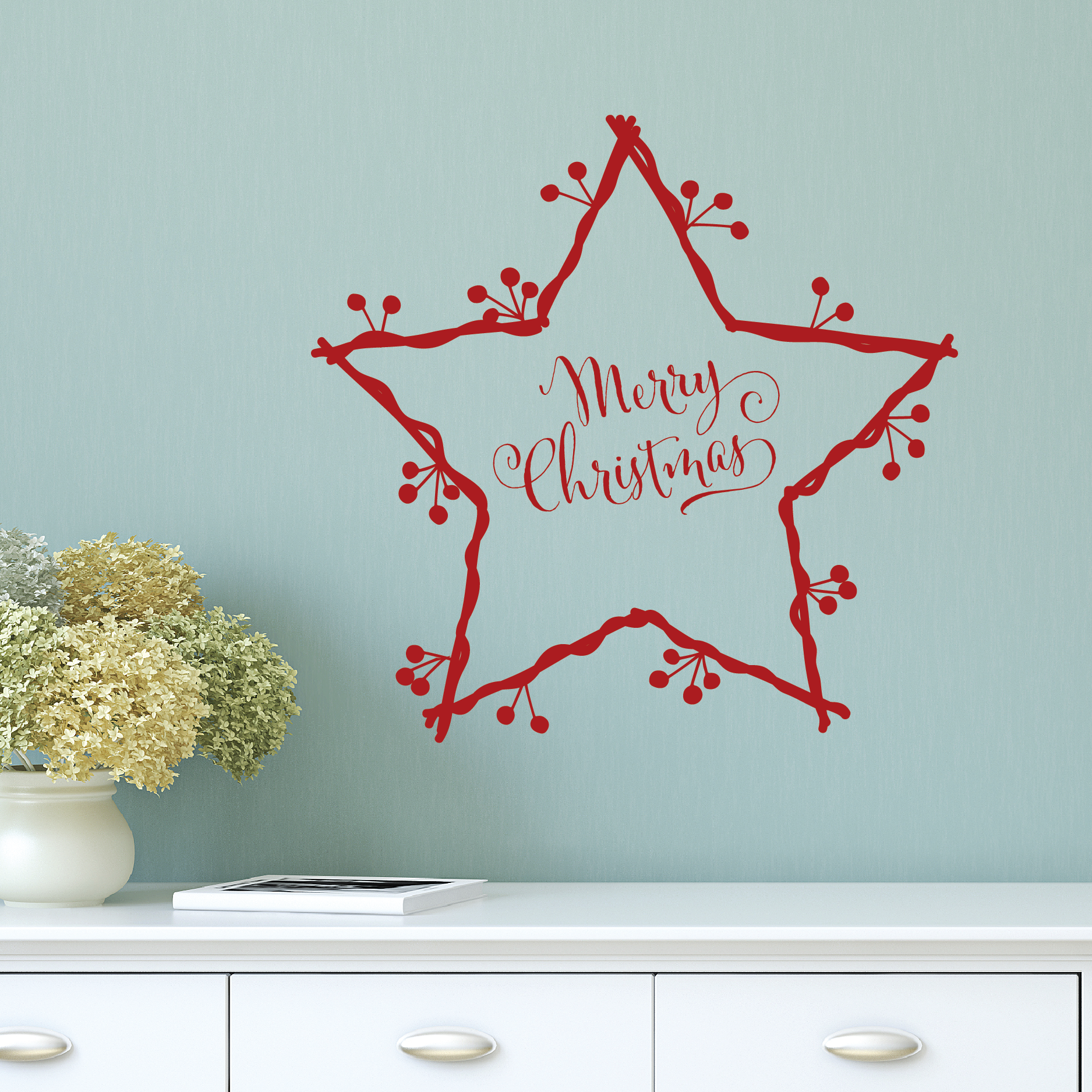 Star Wreath Wall Quotes™ Decal | WallQuotes.com for Wall Sticker Quotes Png  111bof
