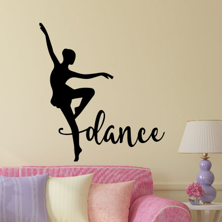 Dance Silhouette Wall Quotes Vinyl Lettering Decal Home Decor Ballet Dancer Dancing Girls