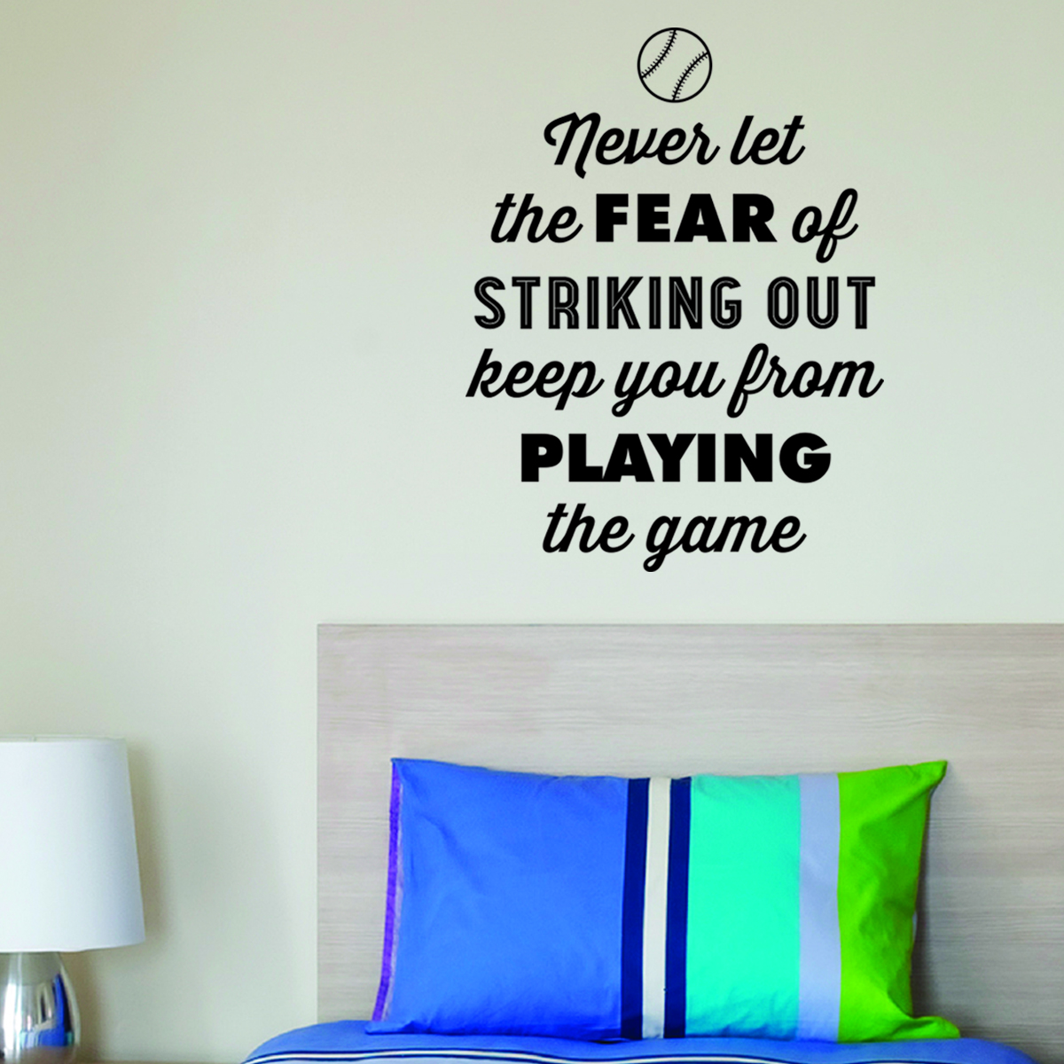 Vintage Fear Of Striking Out Wall QuotesTM Decal
