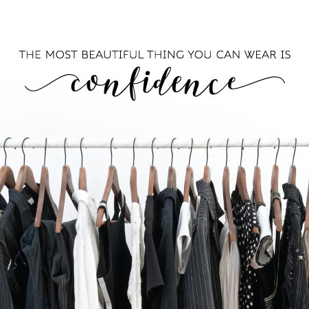 fcd99194ea The most beautiful thing you can wear is confidence wall quotes vinyl decal  home decor art
