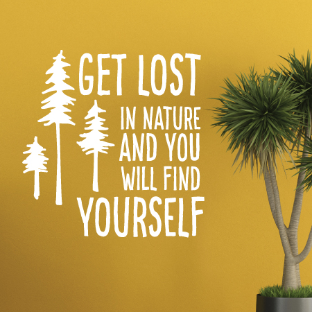 Get Lost In Nature Wall Quotes Decal Wallquotes Com