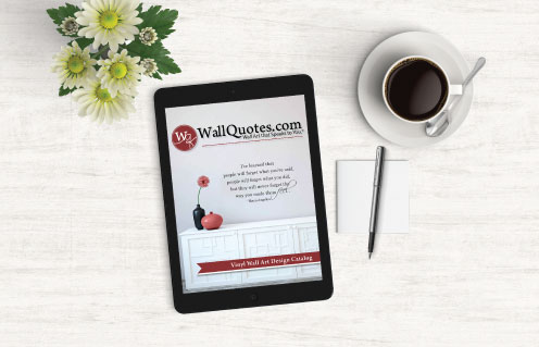 Order a catalog wall quotes