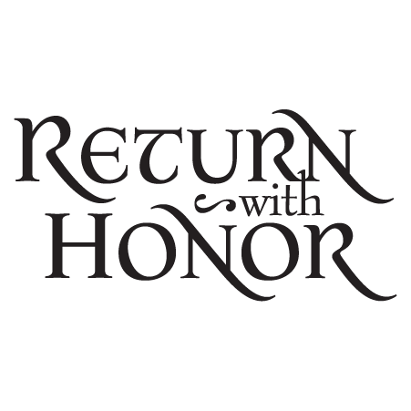 return with honor gilded wall quotes decal wallquotes com