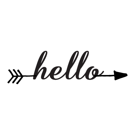 Hello Arrow Wall Quotes Decal Wallquotes Com