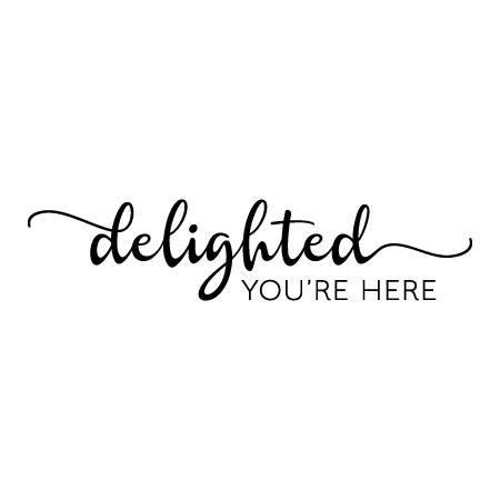 delighted you're here wall quotes™ decal | wallquotes