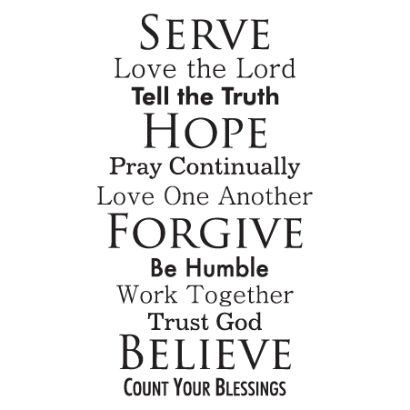 Faith Family Rules Wall Quotes Decal Wallquotes Com