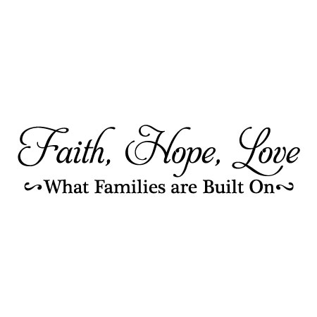 Faith Hope Love Wall Quotes™ Decal WallQuotes Adorable Love And Faith Quotes