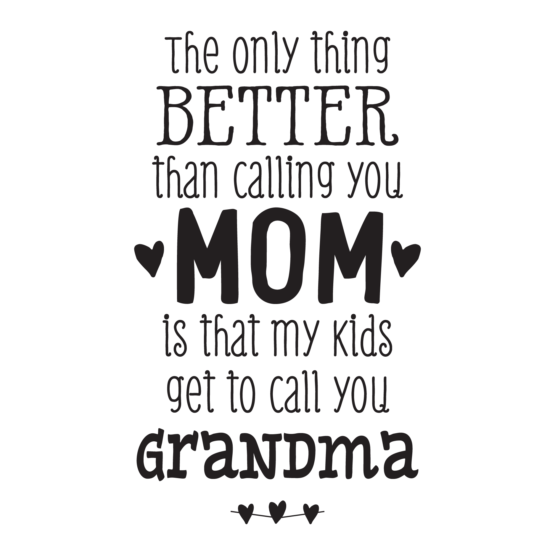 My Kids Call You Grandma Wall Quotes Decal on Funny Happy Birthday Cards