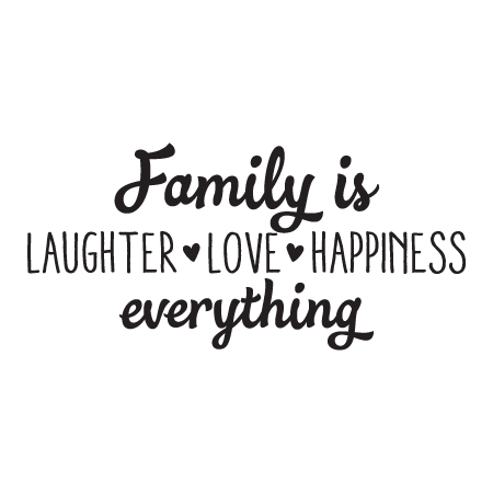Quotes About Happiness And Laughter Simple Family Is Laughter Love Happiness Wall Quotes™ Decal  Wallquotes