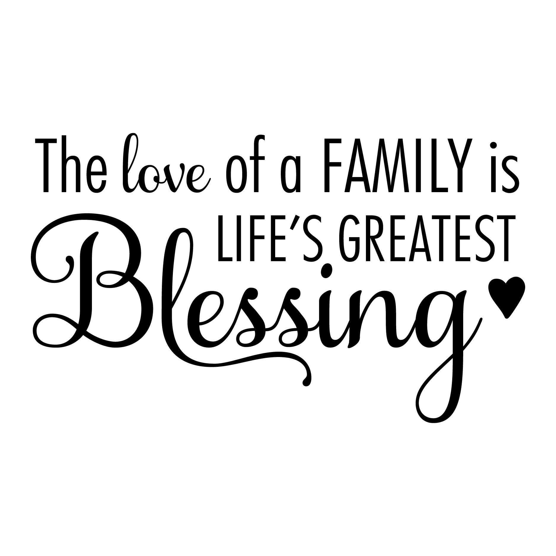 The Love Of A Family Is Lifeu0027s Greatest Blessing Wall Decal
