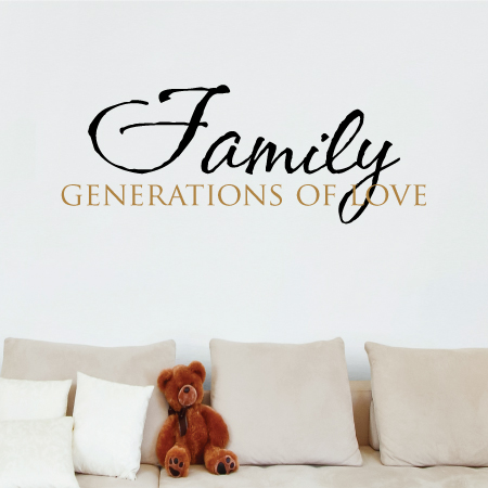 Family Generations Of Love Wall Quotes Decal Wallquotescom