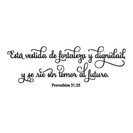 fortaleza y dignidad spanish bible verse wall quotes