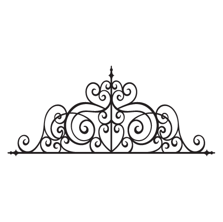 Josette Wrought Iron Headboard Wall Quotes Wall Art Decal