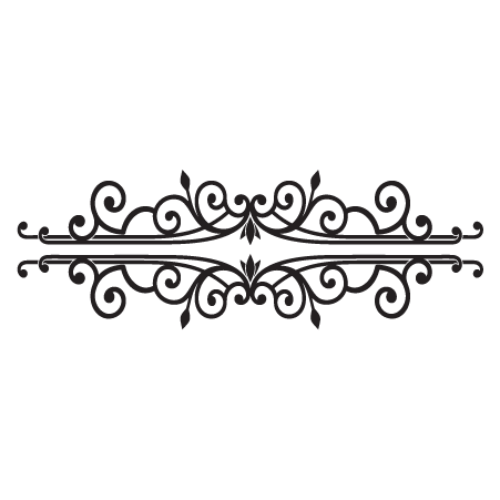 Deidre Scroll headboard wall decal