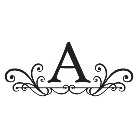 Abby Monogram Headboard Wall Quotes Wall Art Decal