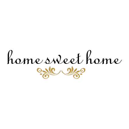 Graceful Home Sweet Home Wall Quotes™ Decal  WallQuotes.com