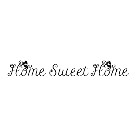 Cursive Home Sweet Home Wall Quotes™ Decal  WallQuotes.com