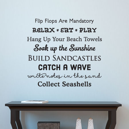 Beach House Rules Wall Quotes Decal WallQuotescom - House rules wall decals