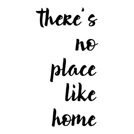 No Place Like Home Elegant Wall Quotes Decal Wallquotescom
