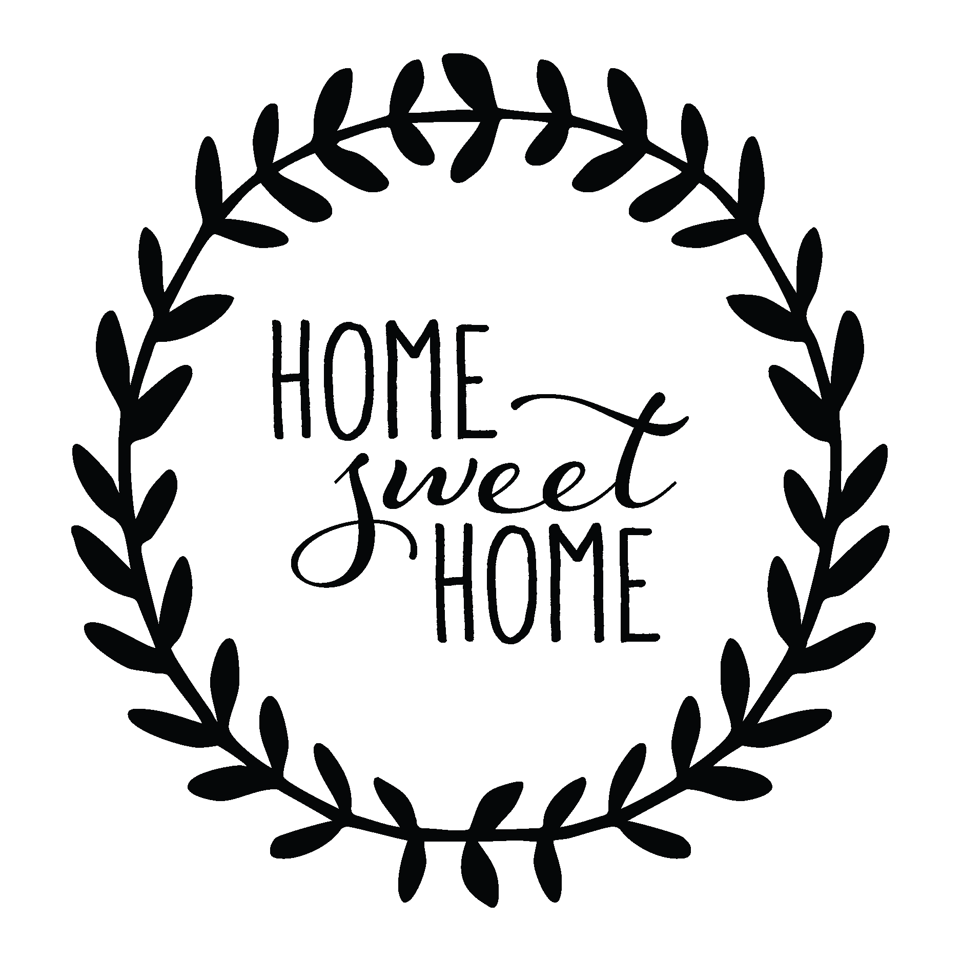 Home Sweet Home Leaves Wall Quotes Decal Wallquotes