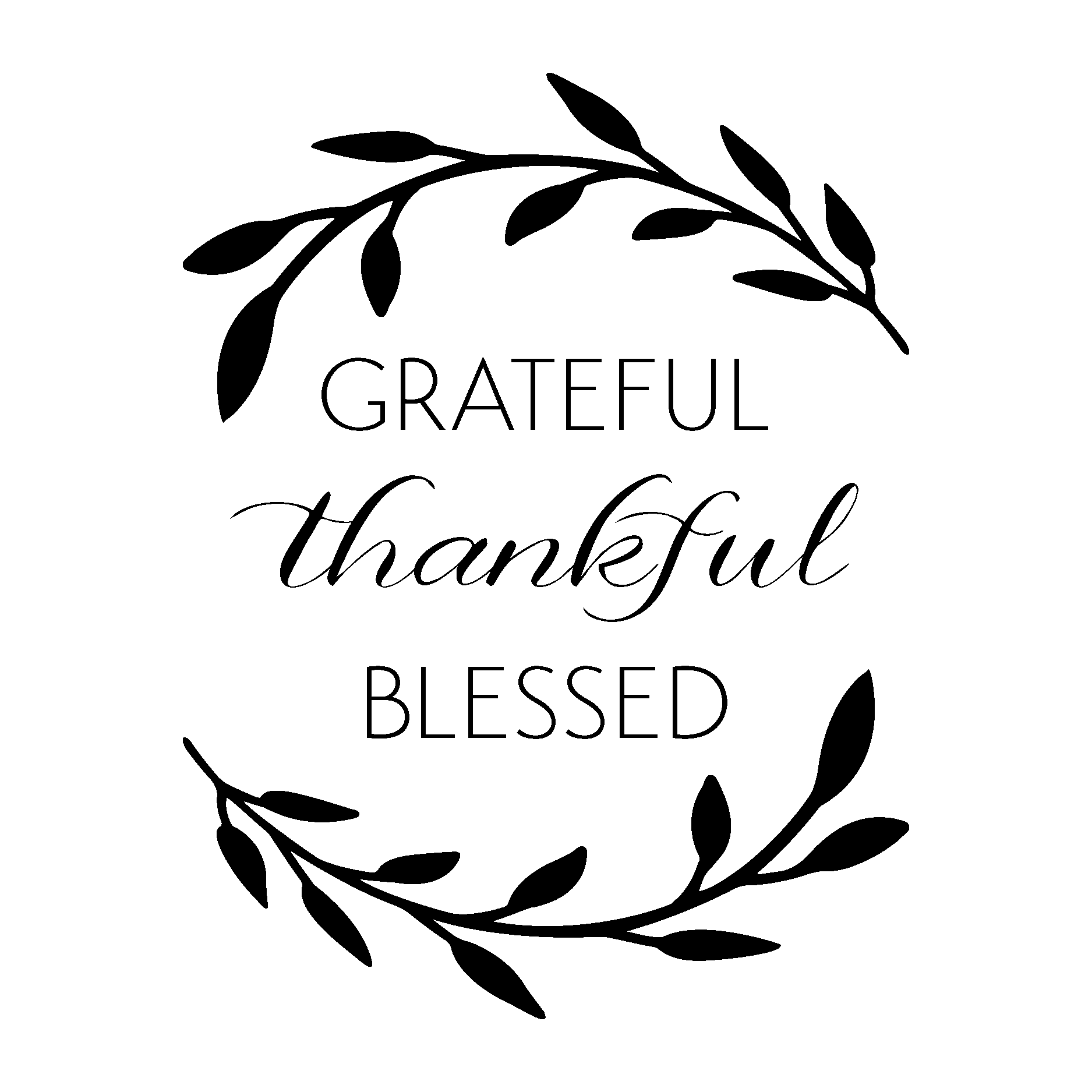Grateful Thankful Blessed Wall Quotes Decal Wallquotes Com