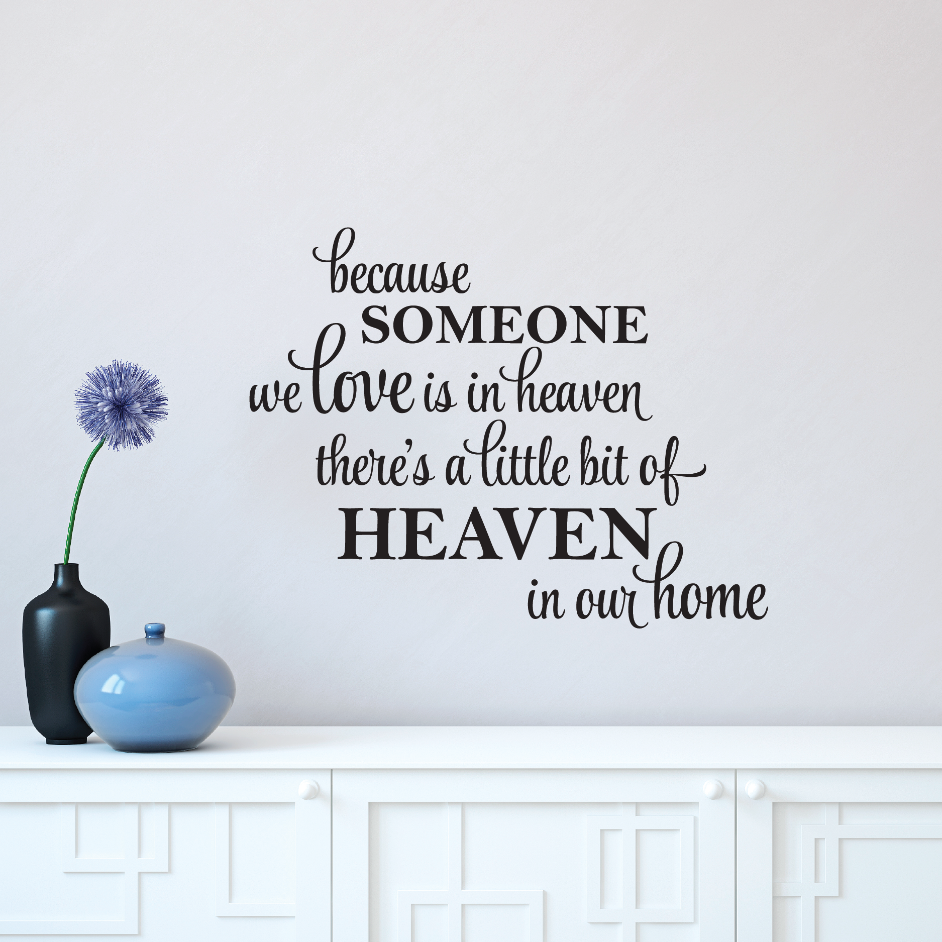 Wall Art Stickers Heaven : A little bit of heaven in our home wall quotes decal