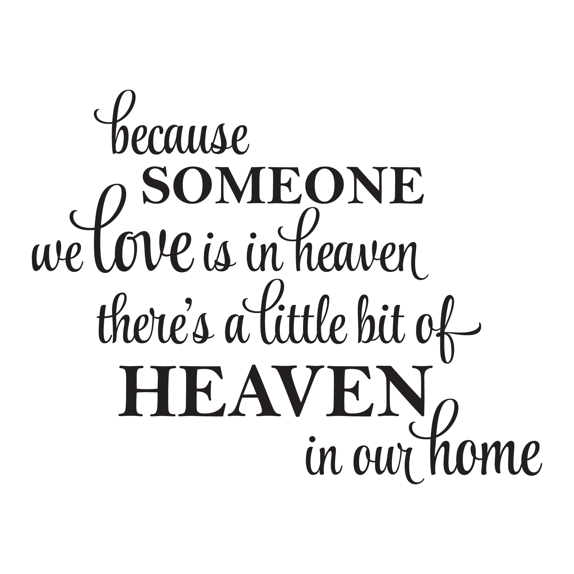 What Is A Good Housewarming Gift A Little Bit Of Heaven In Our Home Wall Quotes Decal