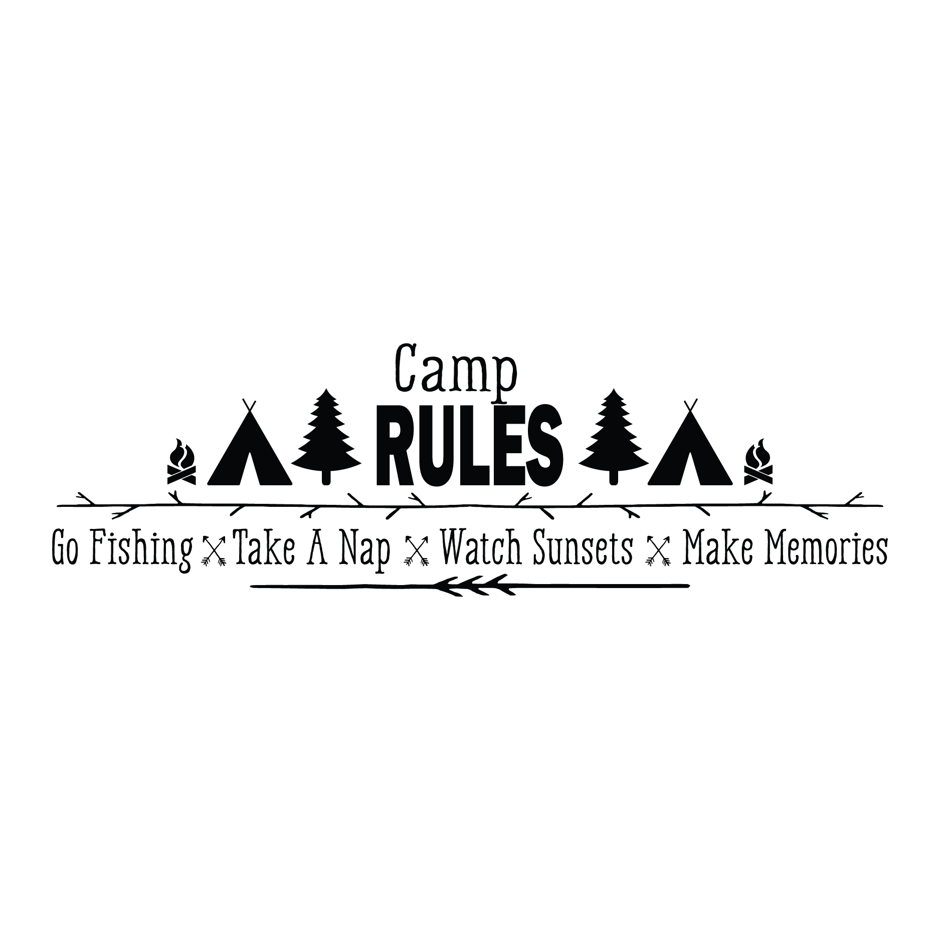 Camp Rules Wall Quotes Decal Wallquotes Com
