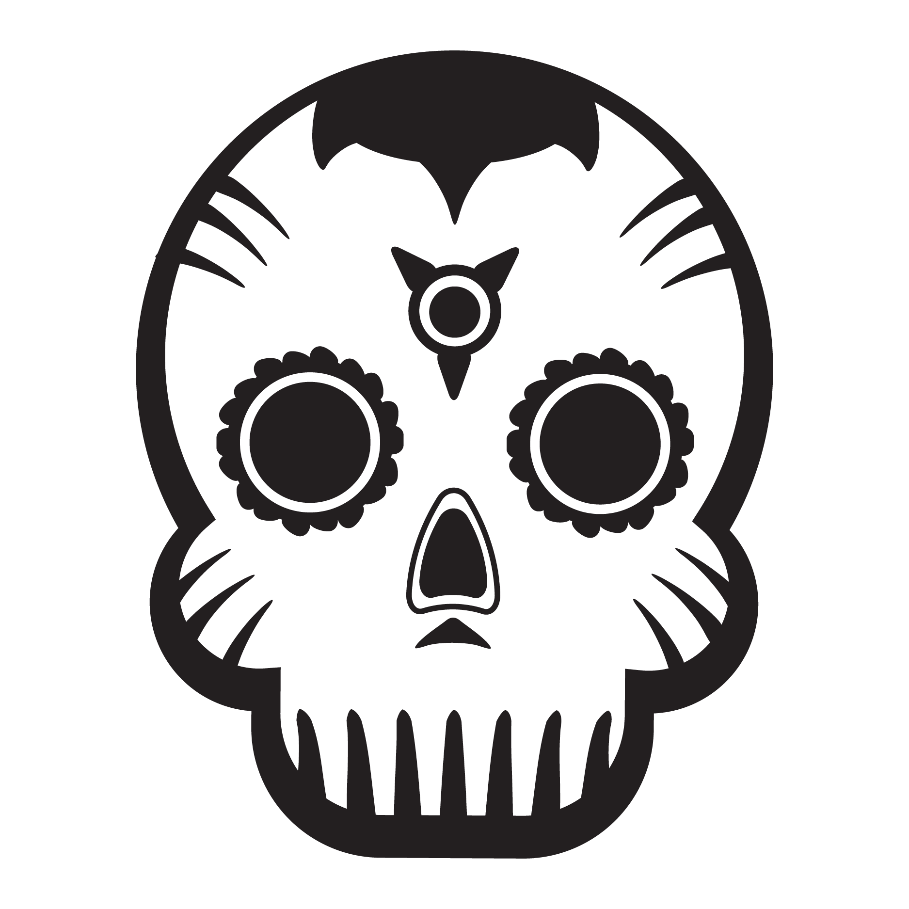 Simple day of the dead skull pixshark images