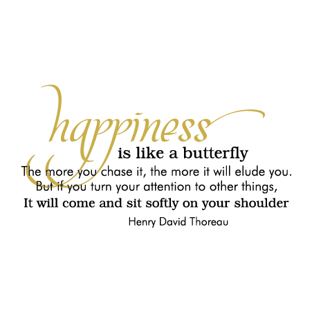 Happiness Butterfly Wall Quotes Decal Wallquotescom
