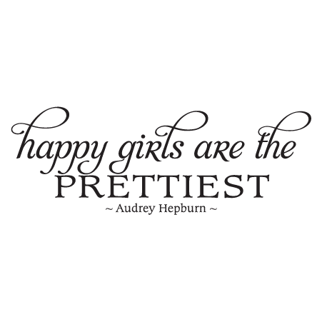 Happy Girls Fancy Wall Quotes™ Decal | WallQuotes.com