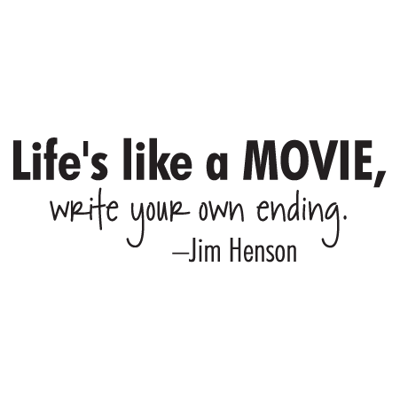 life is like a movie wall quotes� decal wallquotescom