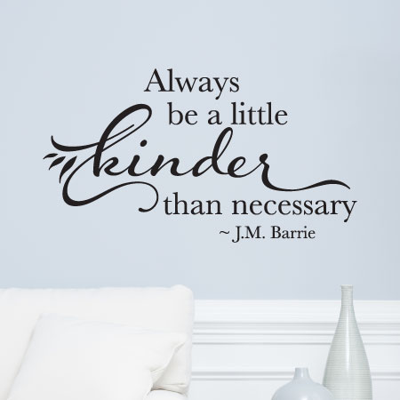 Always Be Kinder Than Necessary Wall Quotes Decal Wallquotescom