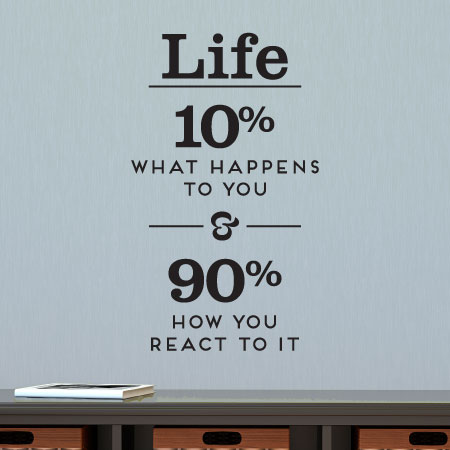 Life Is How You React Wall Quotes Decal Wallquotescom