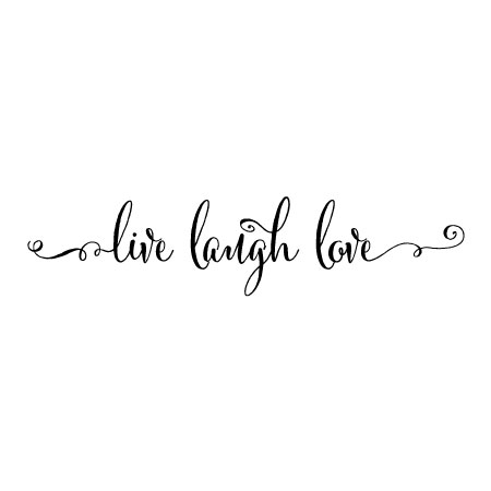 Live Laugh Love Script Wall Quotes™ Decal | WallQuotes.com