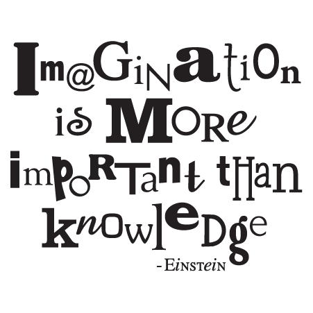 Imagination More Important Wall Quotes™ Decal   WallQuotes com