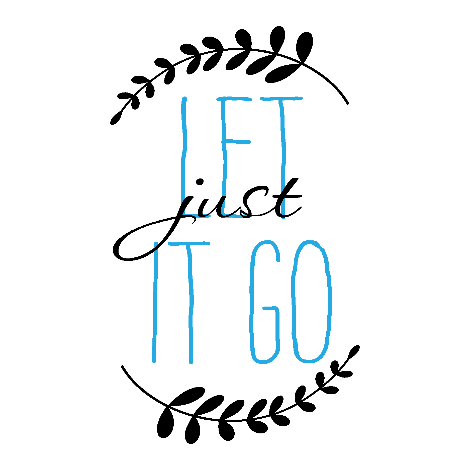 Let It Go Quotes Just Let It Go Wall Quotes™ Decal  Wallquotes