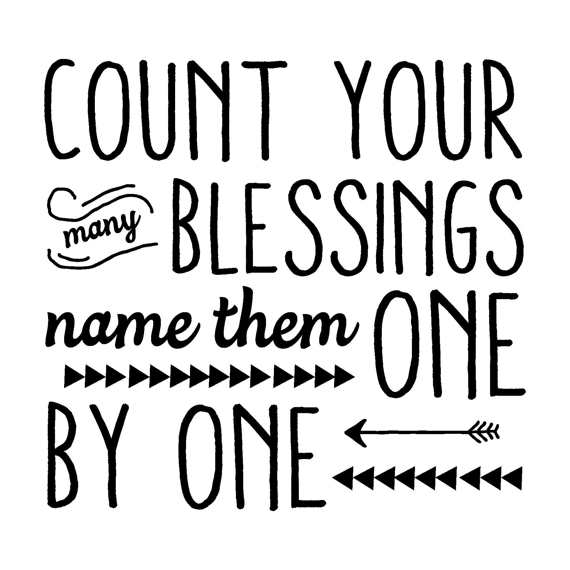 Blessings Quotes: Count Your Blessings Wall Quotes™ Decal